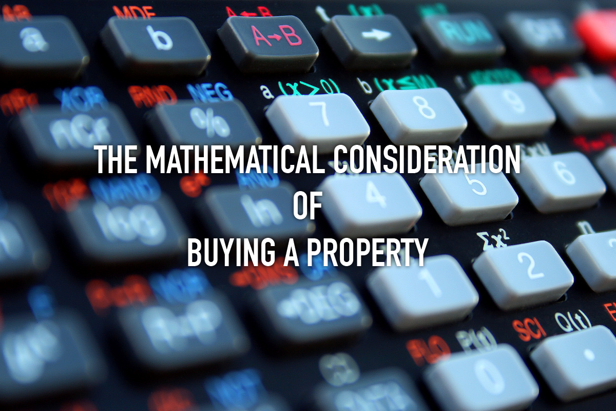 Mathematical consideration of buying a property