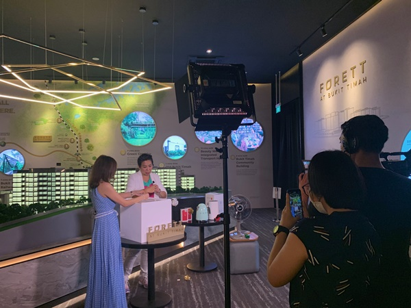 The virtual booking was hosted by Irene Ang. Photo: Qingjian Realty